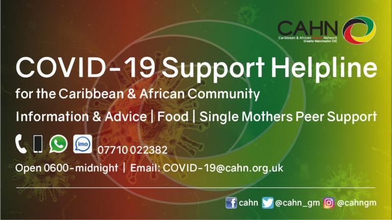 CAHN COVID-19 Helpline