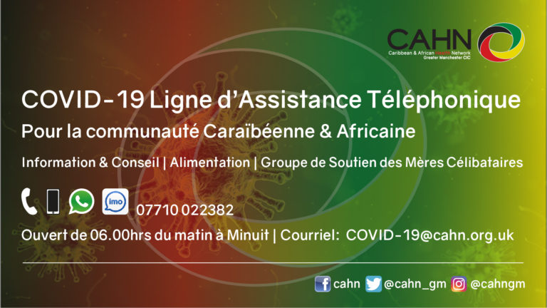 CAHN COVID-19 Helpline in French