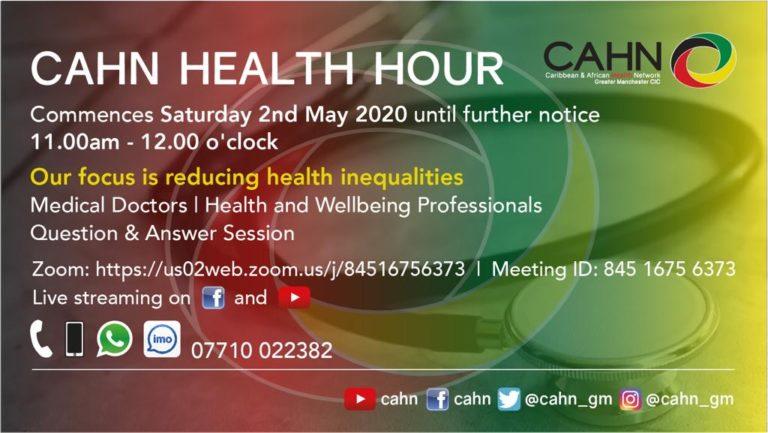 CAHN Health Hour Saturdays 1100-1200hrs