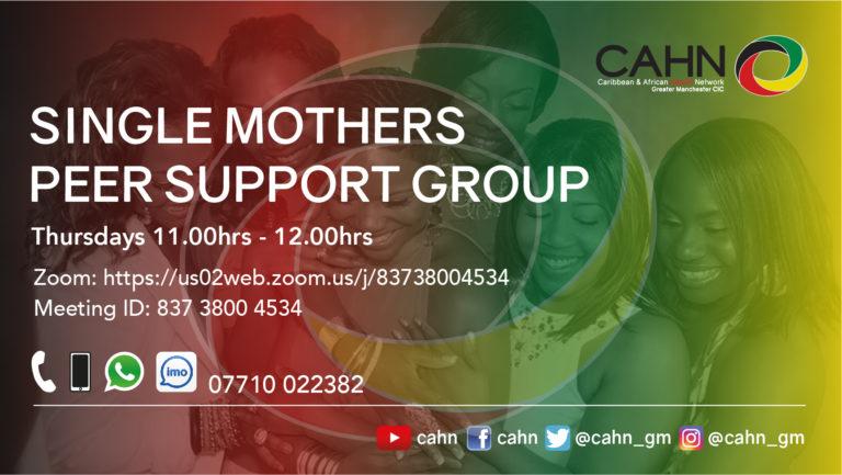 CAHN Single Mothers Peer Group Thursdays 1100-1200hrs